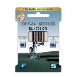 Organ Needle - EL x 705 Chromium - Size 80