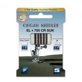 Organ Needle - EL x 705 Chromium SUK - Size 80
